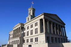 Tennessee State Capitol: Nashville. Built: 1845-1859. Architectural Style: Greek Revival.