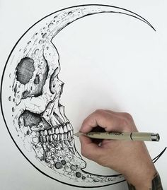 Half Moon Skull