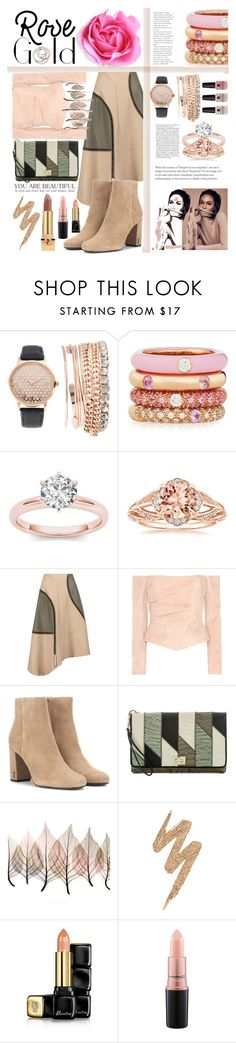 """""""Rose Gold Jewelry"""" by roza2001 ❤ liked on Polyvore featuring Jessica Carlyle, Adolfo Courrier, Tiffany & Co., Victoria's Secret, TIBI, Balmain, Yves Saint Laurent, Brahmin, Artistica and Urban Decay"""