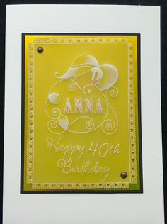 Clarity Groovi Design Club member's plate April 2016 40th birthday card - by… Hobbies And Crafts, Crafts To Make, Barbara Gray, Baby Plates, 40th Birthday Cards, Happy 40th, Parchment Craft, Make It Simple, Clarity