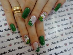 Beautiful Nail Art Ideas You Have To Try - Page 7 of 44 - Nail Stylish Nail Pops, Short Square Nails, Valentine Nail Art, Nails Only, Diy Nail Designs, Green Nails, Fabulous Nails, Beautiful Nail Art, Holiday Nails
