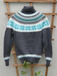 Bilderesultat for rundfelling genser dame Vintage Knitting, Free Knitting, Knitting Patterns, Knitting Ideas, Long Sleeve Sweater, Men Sweater, Icelandic Sweaters, Needlework, Knit Crochet