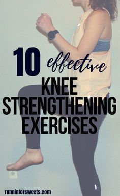 These 10 knee strengthening exercises for runners are essential for treating knee pain and runners knee! Try these exercises at home to quickly recover and gain strength. Add these 4 running stretches for the ultimate routine to prevent knee pain. Knee Strengthening Exercises, Stretches, Exercises For Knee Injuries, Facitis Plantar, How To Strengthen Knees, Runners Knee, Chiropractic Treatment, Knee Pain Relief, Sciatic Pain