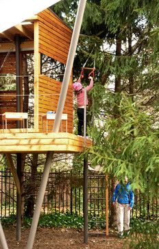 Delighful Kids Tree Houses With Zip Line Treehouse Fort Zipline And Design Decorating