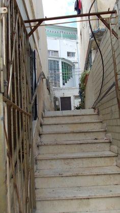 Stairs in Hertzel street  photo mirjam Bruck-Cohen