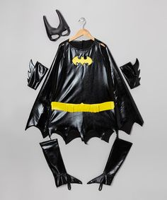 Take a look at this Black & Gold Batgirl Deluxe Dress-Up Outfit - Girls by Batman on #zulily today!