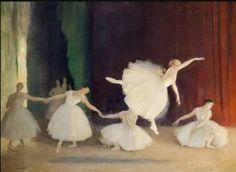 """huariqueje: """"  Les Sylphides - Dame Laura Knight , c.1922 British, 1877 - 1970 Oil on canvas """""""