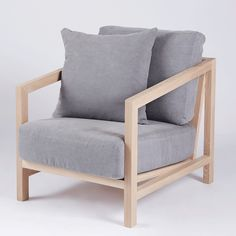 the tamarama armchair crafted from a solid elm wooden and timber frame with grey natural