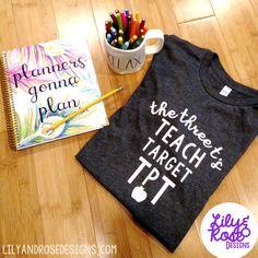 Teachers Pay Teachers Shirt Teacher Shirt by LilyandRoseDesignsCo