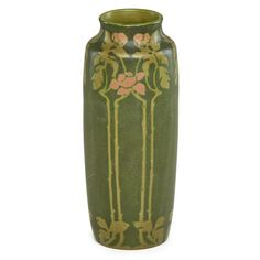 WALRATH Exceptional tall vase with roses - Price Estimate: $10000 - $15000