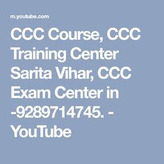2682a5e4acd CCC Course, CCC Training Center Sarita Vihar, CCC Exam Center in  -9289714745.