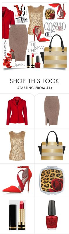 """""""The Perfect Dressy Look"""" by colormegirly ❤ liked on Polyvore featuring Oasis, Miss KG, Gucci, OPI, handbags, fashionset and polyvoreset"""