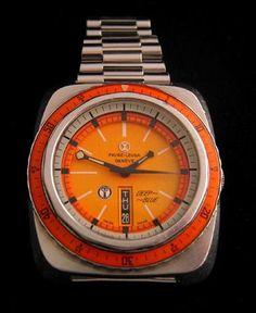 Farve-Leuba 1966 twin-barrel duomatic Deep Blue watch