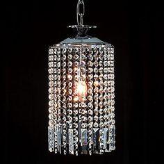 Lamparas colgantes de cristal modernos con gotas