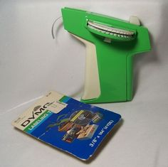 Vintage Dymo Label Maker 1720 Green and White with Extra Roll Works Great #Dymo