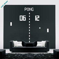 Pong arcade game vinyl wall sticker. £9.79, via Etsy.