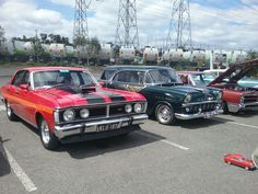 Red XY GT and FB Holden