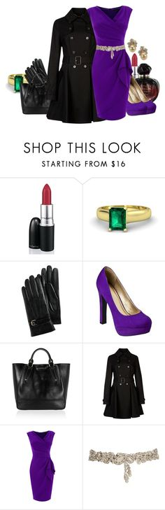 """Classic Evil Regal"" by madameregal ❤ liked on Polyvore featuring MAC Cosmetics, Gemvara, Cole Haan, Once Upon a Time, Burberry, Ted Baker, Coast, Temperley London, purple heels and pearl earrings"