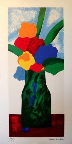 Aldemir Martins - Vaso De Flores Coloridas