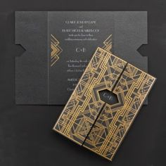 Occasions to Blog: Great Gatsby Wedding Ideas (Invitation Link - http://occasionsinprint.carlsoncraft.com/Wedding/Wedding-Invitations/3149-RR13321-Savoy--Invitation.pro)