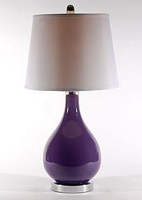 Purple Glass Lamp Purple Lamp, Monochromatic Color Scheme, Shades Of Purple, 50 Shades, Bedside Table Lamps, Color Schemes, Contemporary, Lighting, Glass