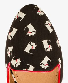 Scottish Terrier Print Loafers