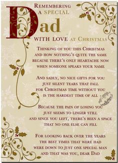 Christmas Grave Card - Special Dad - FREE Holder-C110 in Home, Furniture & DIY, Celebrations & Occasions, Memorials & Funerals | eBay