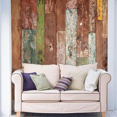Instead of the costly and intensive work of installing actual wood paneling, there are now beautiful wall coverings that mimic wood.