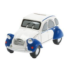 Old School Blue Car Ceramic Money Bank