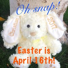 Personalized embroidered 2018 stuffed easter bunny easter gift order your personalized easter bunny for your kiddos easter basket now the most memorable easter negle Image collections