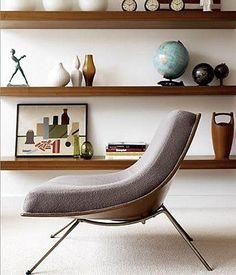 A Canadian design.  James Donahue's Coconut Lounge Chair, Winnipeg 1950's. Would love a reading corner like this.  www.iheartdesign.com.au