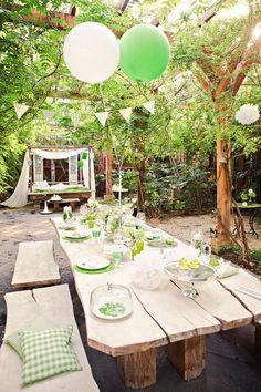 lange tafel tuin