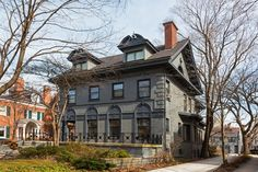 This house is located in Chicago's historic Kenwood district, about eight miles from the Loop and downtown. The area is known for grand single-family houses in a broad variety of styles, with ornate Georgian and Romanesque designs standing alongside simple Prairie and modern residences. President Obama's home is nearby, as are the University of Chicago and 1920s-era apartment towers. (Photo: William Zbaren for The New York Times)