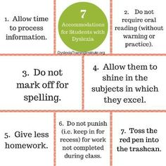 Accommodating Students With Dyslexia >> 29 Best Accommodations Images In 2016 Dyslexia Learning