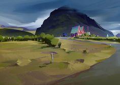 ArtStation - Virtual plein air/ Iceland, Michal Sawtyruk