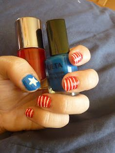 Independence Day Flag Manicure