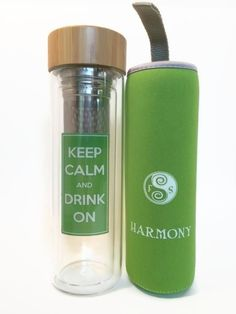 Infusion Water Bottle - Great for Detox Water - Premium Fruit and Loose Leaf Tea Stainless Steel Infuser and Travel Tumbler Made of Double Walled Glass and a No Leak Bamboo Lid