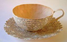 Paper Tea Cup   by Cecilia Levy