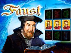 Игровой автомат Faust на реальные деньги.  Сюжет занимательного игрового автомат Faust взят из одноименной драмы известного писателя Гете. Участвуйте в приключениях великого чернокнижника, жаждущего наслаждений и безмерных знаний профессора. Но ни в коем случае не