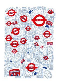Secret London Screen Print