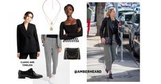 Look at Amber Heard's cute fall outfit! We're suddenly inspired to hit the town with a chic and stylish look that's perfect for cooler weather! Amber Heard Style, Boyish Style, Urban Looks, Cute Fall Outfits, Celebrity Look, Street Style Looks, Fall Trends, Fall Looks, Suddenly