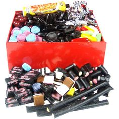 Love Your Liquorice Sweets Hamper Box @ Hamper Boxes, Gift Hampers, Liquorice Sweets, Temperature And Humidity, Christmas Gifts, Breakfast, Food, Xmas Gifts, Morning Coffee