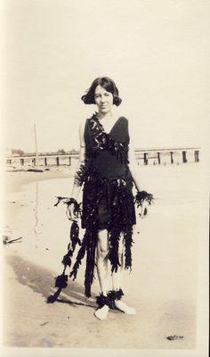 Woman in SEAWEED DRESS at Seaside BEACH Photo by NiepceGallery, $19.00