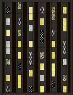Midnight in Manhattan Quilt Pattern PS-917 (advanced beginner, lap and throw)