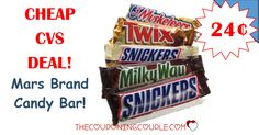 **CHEAP CANDY BAR** Grab this easy peasy deal when you head to CVS this week! Get a Mars Brand Candy Bar for only $0.24! YUM!  Click the link below to get all of the details ► http://www.thecouponingcouple.com/cvs-deal-mars-brand-candy-bar-only-0-24/ #Coupons #Couponing #CouponCommunity  Visit us at http://www.thecouponingcouple.com for more great posts!