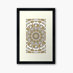 Framed Art Prints, Canvas Prints, Background S, Mandala, My Arts, Clock, Printed, Awesome, Artist