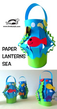 Discover The Benefits of Recycled Crafts for Kids Summer Crafts For Kids, Projects For Kids, Art For Kids, Kindergarten Art, Preschool Crafts, Kids Crafts, Sea Crafts, Paper Crafts, Paper Toys