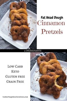 Keto Cinnamon Pretzels - Soft, chewy, low carb and full of flavor! These Keto Cinnamon Pretzels are the perfect snack, especially when you're craving something sweet! Keto Foods, Ketogenic Recipes, Keto Snacks, Low Carb Recipes, Diet Recipes, Keto Desserts, Fat Head Recipes, Cheese Recipes, Recipies