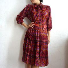 CORALIE French Vintage 70s Secretary Dress by bOmode on Etsy, $69.00