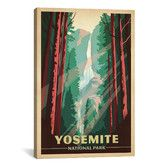 Found it at AllModern - 'Yosemite National Park' by Anderson Design Group Vintage Advertisement on Canvas